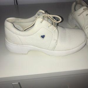 Nurse mates white sneakers